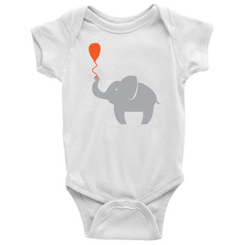 Elephant With Balloon Baby Onesuit
