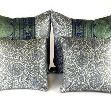 Bed Pillow Set, Pure Silk Pillows, Big pillow, Throw Pillow Set, Couch pillow set, Grey Pillow set, Designer pillow set, Luxury pillow