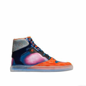Balenciaga Iridescent Multicolor High Sneakers Beige/ Orange - Men's Sneaker
