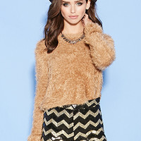 Sequined Chevron Pattern Shorts