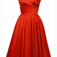 1950s Trudy Party Dress - Crimson