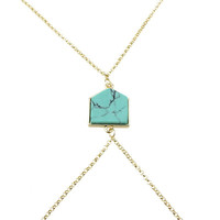 Body Chain Green Turquoise Style Accessory [4956857092]