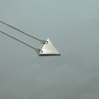 Minimalist Triangle Sterling Silver Handmade  Necklace Sterling Silver Chain