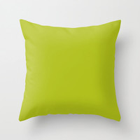 Acid Green Pillow, #B0BF1A, Solid Green Throw Pillow, Solid Green Pillow, Green Pillow, Modern Pillow, Minimalist Decor, Minimalist Pillow