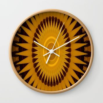 kaleidoscope sunburst design. Wall Clock by Scott Hervieux