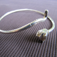 Sterling Cat Bangle