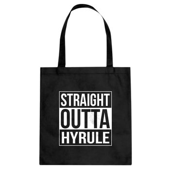 Straight Outta Hyrule Cotton Canvas Tote Bag