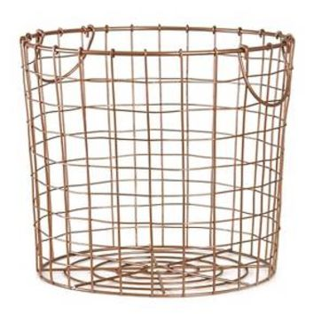 Copper Wire Round Basket Large - Room Essentials™
