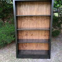 Traditional Wood Bookcase - Solid Wood Stained In Ebony With Bead Board Back