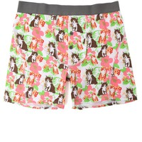 Funderwear Cat Floral Heather Boxer Briefs - Mens Headphones - Multi