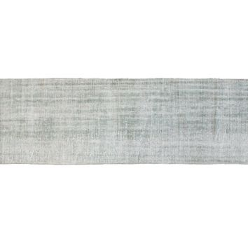 2.5x11 Vintage Distressed Overdyed Oushak Rug Runner