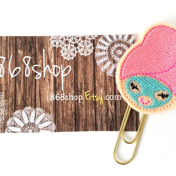 Pink Spa Girl Planner Clip| Paper clips| Planner Accessory| Journal Marker| Bookmark| Teachers| Friends| Gifts