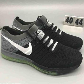 NIKE FLYKNIT RACER Tide brand fashion wild comfortable shock absorption sneakers F-CSXY grey+black