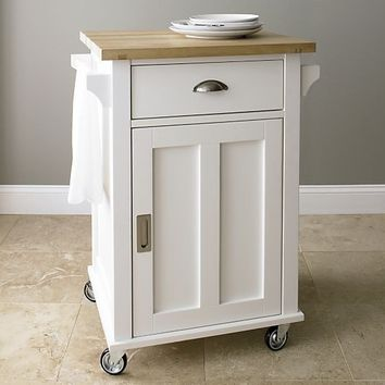 Groovy Belmont White Kitchen Cart In Dining Kitchen Storage Cratebarrel Download Free Architecture Designs Scobabritishbridgeorg