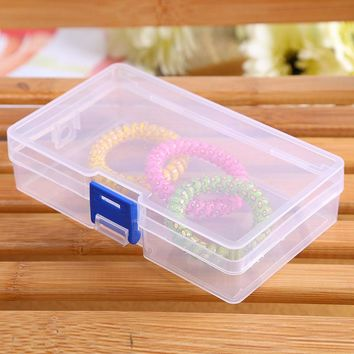 new rectangular transparent plastic storage box jewelry box storage box cassette cover free shipping!