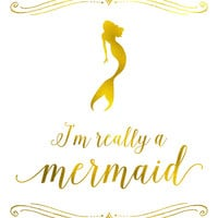 I'm really a mermaid Art Print by Jaclyn Rose Design