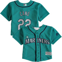 Cheap youth Seattle Mariners 22 Robinson Cano 24 Ken Griffey Baby 2-4 old year Cool Base toddler Jersey stitched S-L