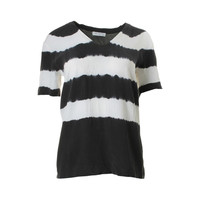 Equipment Femme Womens Silk Striped Pullover Top