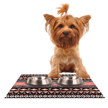 "Skye Zambrana ""Mojave Black"" Black Red Dog Place Mat"