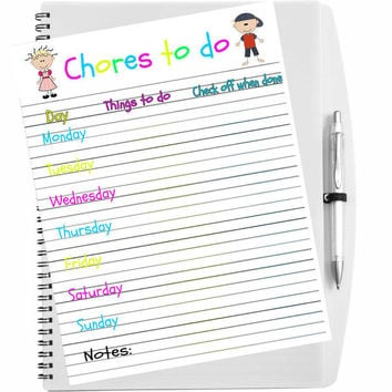 Printable kid's chore chart, Chore chart, Instant download, 8.5 x 11 chore chart, Chore board