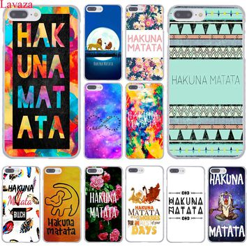 Lavaza hakuna matata The Lion King Hard Coque Shell Phone Case for Apple iPhone 8 7 6 6S Plus X 10 5 5S SE 5C 4 4S Cover