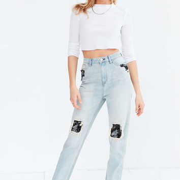 BDG Mom Jean - Sequin Patch - Urban Outfitters