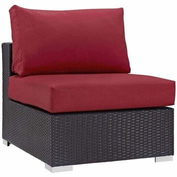 Red Convene Outdoor Patio Armless
