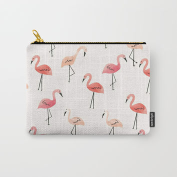 Flamingo Fun Carry-All Pouch by allisone