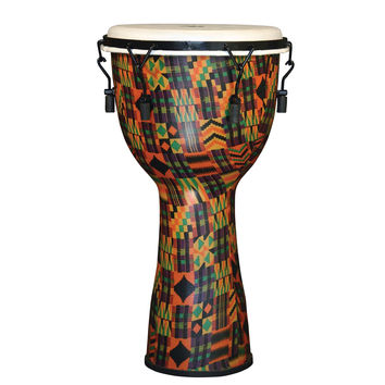 X8 Drums Kente Cloth Djembe, Key Tuned, Synthetic Head, Medium