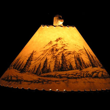 Shadow Moutain Scene Lamp Shade