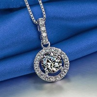 Cubic Zirconia Round Necklace