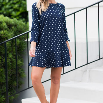 Pretty And Popular Dress, Navy