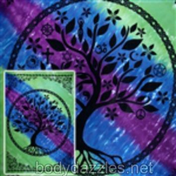 Tree Of Life Tapestries Wall Hanging Bohemian Bed Covering Beach Blanket Great Gift