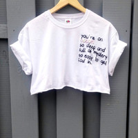 Tumblr Crop Top Ocean Quote, blogger, hipster, indie