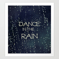 Dance in the Rain Art Print by Caleb Troy