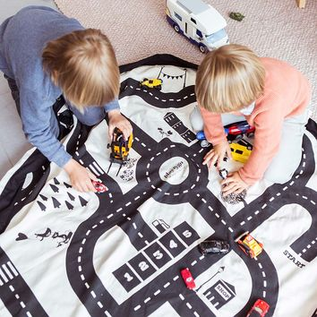 Play and Go Storage Mat - Road Map | Toy Storage