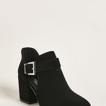Cutout Buckle-Strap Booties