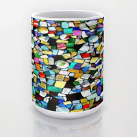 Ceramic Mug, 2 Sizes Available - Stained Glass, Mosaic, Mixed Media - Kitchen, Bathroom, New Home or Apartment, Gift - Made To Order-TMW1#73