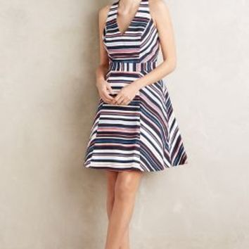 Maeve Stripe Story Dress in Blue Motif Size: