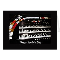 Antique Organ Happy Mother's Day Card