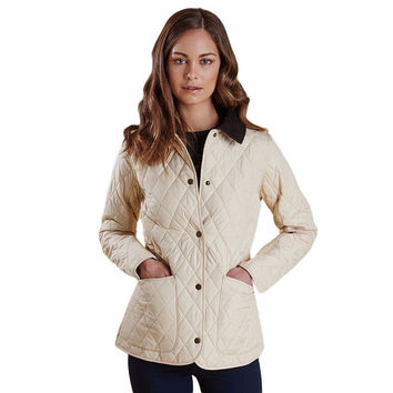Montrose Quilted Jacket in Macadamia by Barbour - FINAL SALE