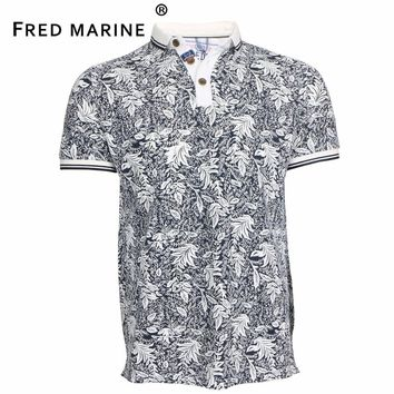 High Quality Luxury Brand Horse Tommi Brand 2017 New Summer Men Polo Shirts Flower Printing Superior Cotton Materia ZM015