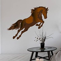 "Wall Decals Horse Full Color Mural Animal Ranch Vinyl Sticker Colorful Decal Home Decor Bedroom Nursery Design Interior Art EN45 (22"" Tall x 28"" Wide)"