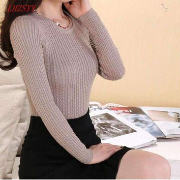 Womens Tight long-sleeved pullover Sweater