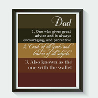 Dad Fathers Day Wall Art  Print Digital Art Graphics Download