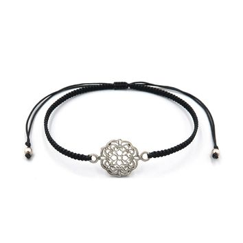 Slide Bracelet - Silver Flower of Life