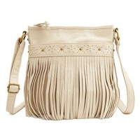 Fringe-Trim Cross-Body Bag: Charlotte Russe