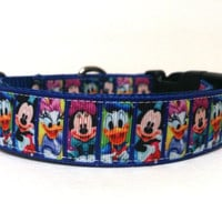 Mickey Mouse and Friends Dog Collar 1""