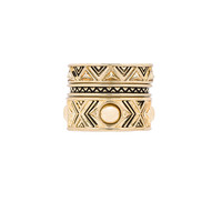 House of Harlow Dorelia Stacked Ring Set in Gold