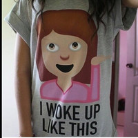 woke up grey T shirt